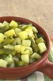 πράσινη πατάτα hotpot φασολιών Στοκ εικόνες με δικαίωμα ελεύθερης χρήσης