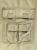 Πράσινη παχιά τσέπη παντελονιού υφασμάτων ελιών Στοκ εικόνες με δικαίωμα ελεύθερης χρήσης