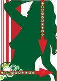 πράσινη προκλητική γυναίκ&alp ελεύθερη απεικόνιση δικαιώματος