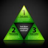 Πράσινη πυραμίδα των επιλογών EPS10 διανυσματικό πρότυπο Στοκ εικόνες με δικαίωμα ελεύθερης χρήσης
