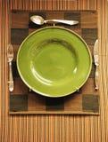 πράσινη πώληση πιάτων Στοκ φωτογραφία με δικαίωμα ελεύθερης χρήσης