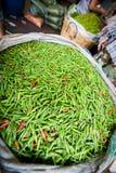 πράσινη πώληση τσίλι Στοκ Φωτογραφία