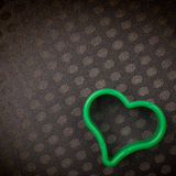 Πράσινη πλαστική μορφή καρδιών Στοκ Φωτογραφίες