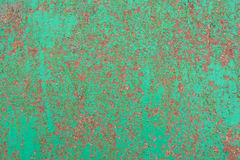 Πράσινη ραγισμένη ζωγραφική στην επιφάνεια μετάλλων Στοκ Εικόνες