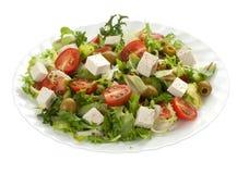 πράσινη σαλάτα φέτας τυριών Στοκ Εικόνες