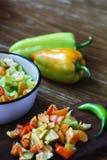 Πράσινη σαλάτα πιπεριών Στοκ Φωτογραφία