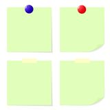 Πράσινη σημείωση ραβδιών. Στοκ Φωτογραφία