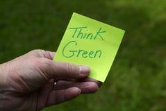 πράσινη σκέψη προσώπων καιν&omic Στοκ Εικόνες