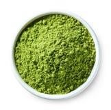Πράσινη σκόνη τσαγιού matcha Στοκ εικόνα με δικαίωμα ελεύθερης χρήσης