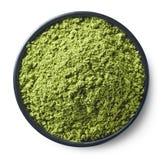 Πράσινη σκόνη τσαγιού matcha Στοκ Φωτογραφία