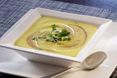 Πράσινη σούπα Butternut Στοκ φωτογραφίες με δικαίωμα ελεύθερης χρήσης