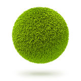 Πράσινη σφαίρα ταπήτων γουνών στοκ εικόνες
