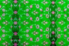 πράσινη σύσταση ταπήτων με τα λουλούδια Στοκ φωτογραφία με δικαίωμα ελεύθερης χρήσης