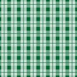 Πράσινη σύσταση υφάσματος ταρτάν σε μια τετραγωνική άνευ ραφής διανυσματική απεικόνιση σχεδίων ελεύθερη απεικόνιση δικαιώματος
