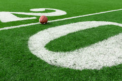 πράσινη σύσταση χλόης ποδοσφαίρου πεδίων ανασκόπησης Στοκ Φωτογραφία