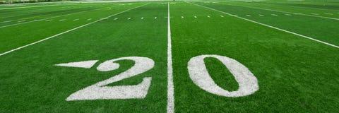 πράσινη σύσταση χλόης ποδοσφαίρου πεδίων ανασκόπησης Στοκ φωτογραφία με δικαίωμα ελεύθερης χρήσης