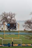 πράσινη σύσταση χλόης ποδοσφαίρου πεδίων ανασκόπησης Στοκ Εικόνα