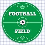 πράσινη σύσταση χλόης ποδοσφαίρου πεδίων ανασκόπησης Στοκ εικόνες με δικαίωμα ελεύθερης χρήσης