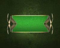 Πράσινη σύσταση Grunge με ένα κομμάτι για το κείμενο Πρότυπο για το σχέδιο διάστημα αντιγράφων για το φυλλάδιο αγγελιών ή την πρό Στοκ Εικόνες