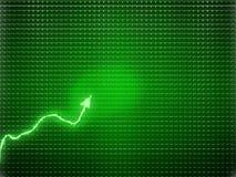 Πράσινη τάση ως σύμβολο επιτυχίας ή οικονομική αύξηση Στοκ Φωτογραφία