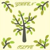 Πράσινη τέχνη συνδετήρων ελιών δέντρων Στοκ εικόνα με δικαίωμα ελεύθερης χρήσης