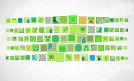 Πράσινη τεχνολογία υπολογιστών με το υπόβαθρο τριγώνων Διαδίκτυο INF Στοκ Εικόνες