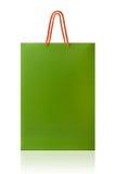 Πράσινη τσάντα αγορών, που απομονώνεται με το ψαλίδισμα της πορείας στο άσπρο backgro στοκ φωτογραφία με δικαίωμα ελεύθερης χρήσης