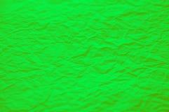 Πράσινη τσαλακωμένη σύσταση εγγράφου πράσινη φύση ανασκόπησης Στοκ Εικόνα
