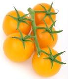 πράσινη υγιής ντομάτα μίσχων κερασιών κίτρινη Στοκ εικόνα με δικαίωμα ελεύθερης χρήσης