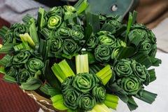 Πράσινη φρέσκια τέχνη λουλουδιών Pandan Στοκ Εικόνες