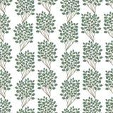 Πράσινη φύλλων άνευ ραφής ταπετσαρία φύλλων φύσης προτύπων σχεδίων επίπεδη διανυσματική Στοκ φωτογραφίες με δικαίωμα ελεύθερης χρήσης