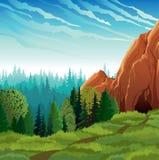 πράσινη φύση τοπίων Ελεύθερη απεικόνιση δικαιώματος