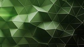 Πράσινη χαμηλή πολυ κατασκευή με τις γραμμές στην τρισδιάστατη απόδοση ακρών απεικόνιση αποθεμάτων