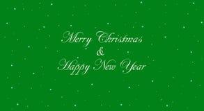 Πράσινη Χαρούμενα Χριστούγεννα και έμβλημα καλής χρονιάς Στοκ Φωτογραφίες
