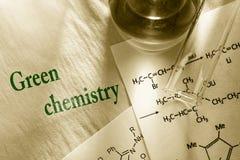 Πράσινη χημεία στοκ εικόνες με δικαίωμα ελεύθερης χρήσης