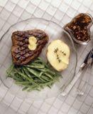 πράσινη ψημένη στη σχάρα μπριζόλα βόειου κρέατος φασολιών στοκ φωτογραφίες με δικαίωμα ελεύθερης χρήσης