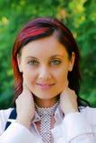 πράσινη όμορφη γυναίκα ματιώ& στοκ φωτογραφία με δικαίωμα ελεύθερης χρήσης