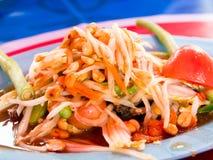 πράσινη papaya σαλάτα στοκ φωτογραφίες με δικαίωμα ελεύθερης χρήσης