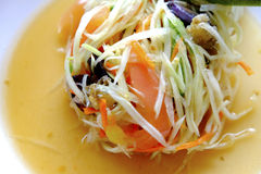 Πράσινη papaya σαλάτα Στοκ εικόνες με δικαίωμα ελεύθερης χρήσης
