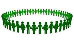 πράσινοι άνθρωποι κύκλων ελεύθερη απεικόνιση δικαιώματος