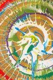 Πράσινοι, άσπροι, κόκκινοι, καφετιοί παφλασμοί χρωμάτων Στοκ Εικόνες