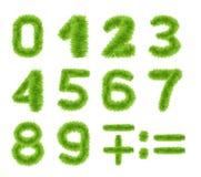 Πράσινοι αριθμοί χλόης άνοιξη καθορισμένοι Στοκ Εικόνα