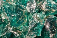 Πράσινοι βράχοι γυαλιού Στοκ εικόνες με δικαίωμα ελεύθερης χρήσης