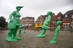 Πράσινοι γίγαντες Sylt στοκ φωτογραφία