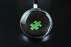 Πράσινοι γρίφοι και ενίσχυση - γυαλί Στοκ Εικόνα