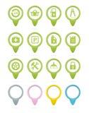 Πράσινοι δείκτες σταθμών βενζίνης απεικόνιση αποθεμάτων