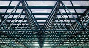 Πράσινοι δομή/σκελετός μιας στέγης θερμοκηπίων Στοκ εικόνες με δικαίωμα ελεύθερης χρήσης