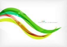 Πράσινοι και στρόβιλοι κόκκινων γραμμών απεικόνιση αποθεμάτων