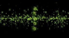 πράσινοι κινούμενοι αριθμοί απόθεμα βίντεο