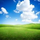 Πράσινοι κυλώντας τομείς στοκ φωτογραφίες